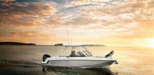 Boston Whaler on the water